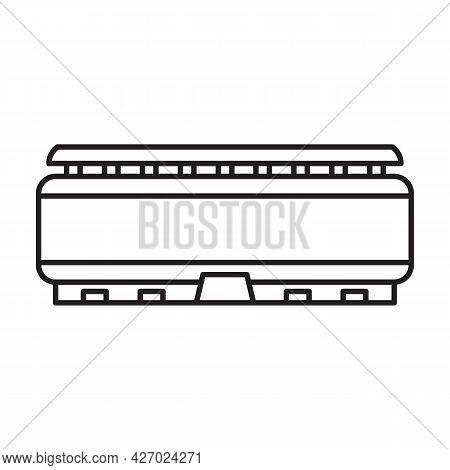 Arena Vector Outline Icon. Vector Illustration Stadium On White Background. Isolated Outline Illustr