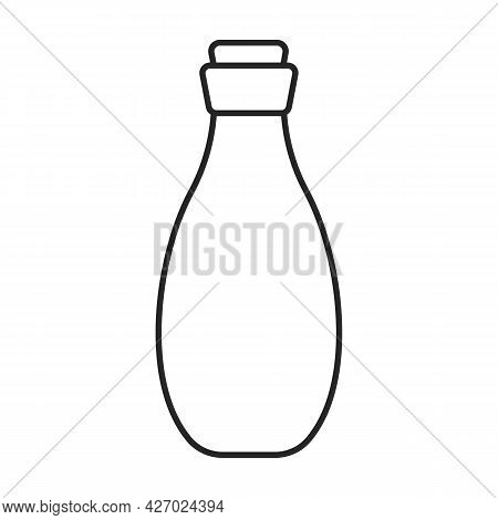 Cosmetic Bottle Vector Icon.outline Vector Icon Isolated On White Background Cosmetic Bottle.