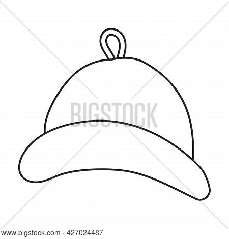 Sauna Hat Vector Icon.outline Vector Icon Isolated On White Background Sauna Hat.