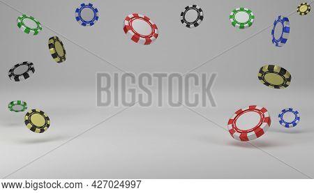 Casino Token Or Casino Chips For Vip Luxury Gamble Casino Game 3d Rendering Illustration