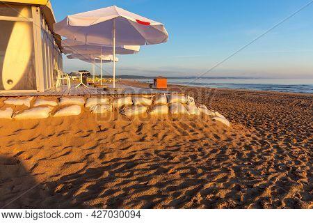 Swinoujscie. Sandy Beach In The Early Morning.