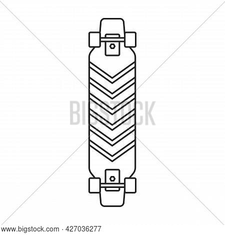 Skate Vector Outline Icon. Vector Illustration Skateboard On White Background. Isolated Outline Illu