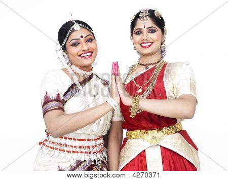 Two Pretty Female Dancers From India