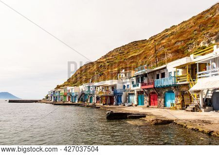 Klima Fishermen Village On Milos Island - The Most Colorful Fishing Village In Greece, With Colorful