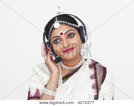 Classical Indian Female Dancer