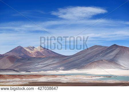 Salar De Talar, The High Plateau Salt Lakes In Los Flamencos National Reserve, Antofagasta Region, N