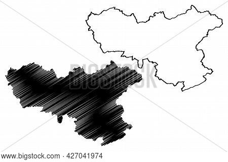 Neunkirchen District (federal Republic Of Germany, State Of Saarland, Rural District) Map Vector Ill