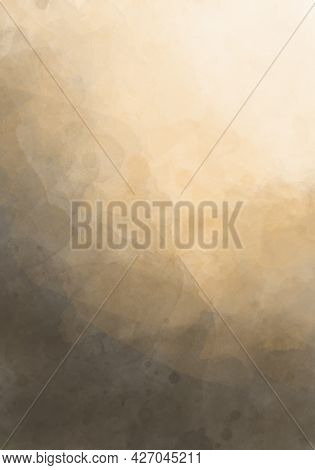 Abstract Beige Watercolor Background. Watercolor Background For Invitations, Cards, Posters. Texture