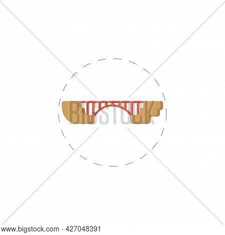 Bridge Clipart. Bridge Isolated Simple Flat Vector Clipart