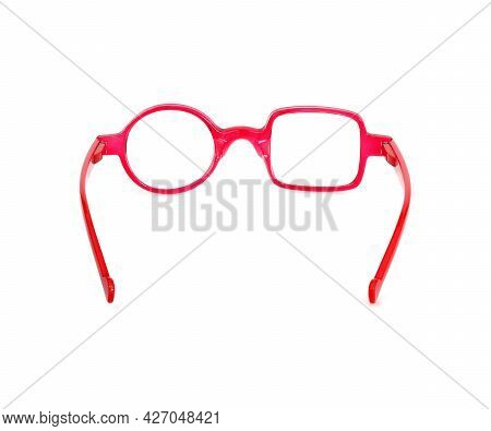 Glasses Isolated On White Background For Applying On A Portrait