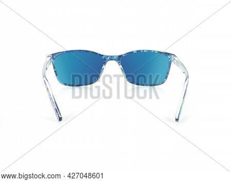 Sunglasses Isolated On White Background For Applying On A Portrait