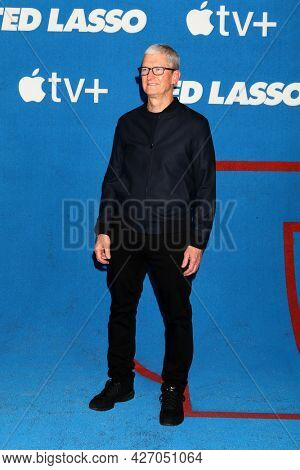 LOS ANGELES - JUL 15:  Tim Cook, CEO Apple at the Ted Lasso Season 2 Premiere Screening at the Pacific Design Center Rooftop on July 15, 2021 in Los Angeles, CA