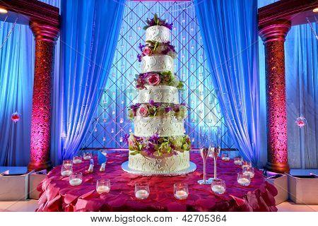 Wedding Cake At Indian Wedding