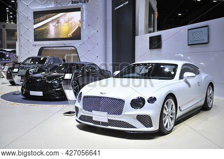 Bangkok-april 5 Bentley Car At The40th Bangkok International Motor Show 2019 On April 5, 2019 In Ban