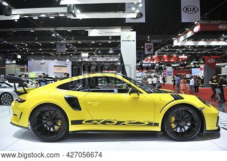 Bangkok-april 5 Porsche Car At The40th Bangkok International Motor Show 2019 On April 5, 2019 In Ban