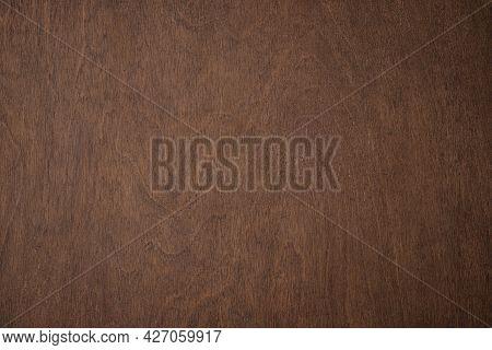Dark Wooden Texture With Natural Pattern. Vintage Wooden Background. Brown Wooden Desk