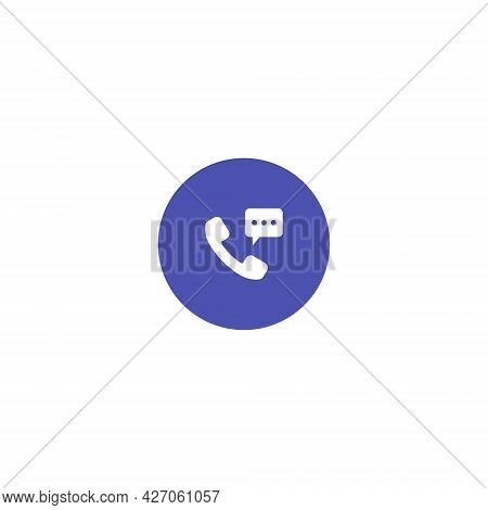 Phone Receiver Button Icon Vector. Call, Chat, Communication Symbol Image