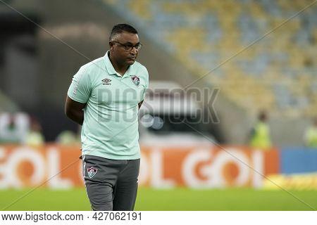 Rio, Brazil - July 17, 2021: Roger Machado Coach In Match Between Fluminense 0 Vs 1 Gremio By 12th R