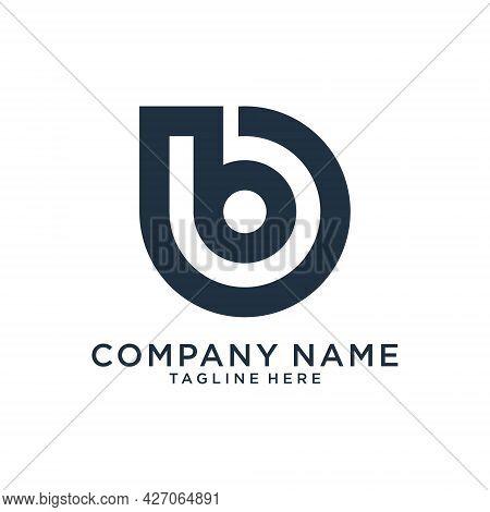 B Or Bb Letter Logo Design Vector.