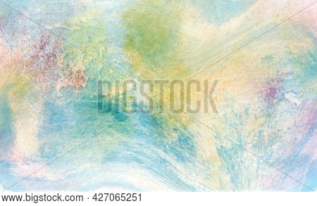 Watercolor Color Background With Shades And Smooth Color Transitions. Illustration For Backgrounds,