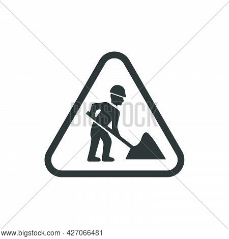 Digging Sign. Meticulously Designed Vector Eps File.