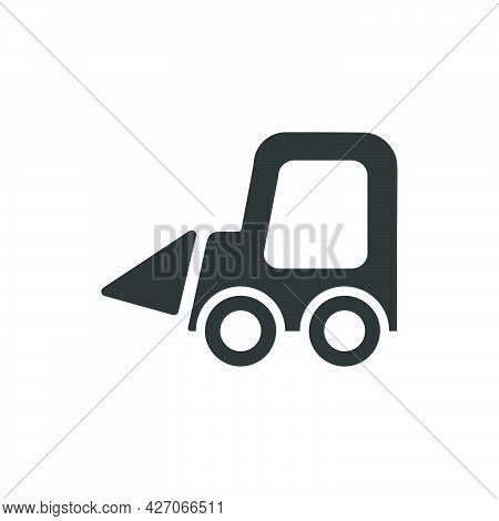 Mini Excavator Icon. Meticulously Designed Vector Eps File.