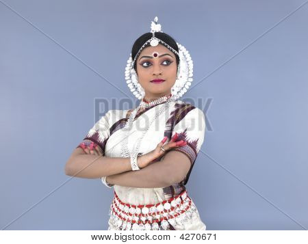 Young Female Odissi Dancer From India