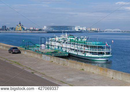 Nizhny Novgorod, Russia - August 29, 2020: Cruise Ship