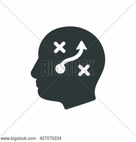 Strategic Thinking Icon. Meticulously Designed Vector Eps File.