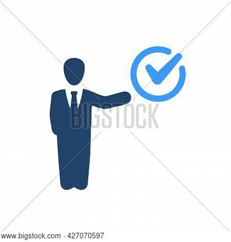 Tasks Completed Icon. Meticulously Designed Vector Eps File.