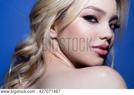 Beautiful Sensual Woman Fashion Model. Sexy Female Posing In Studio.