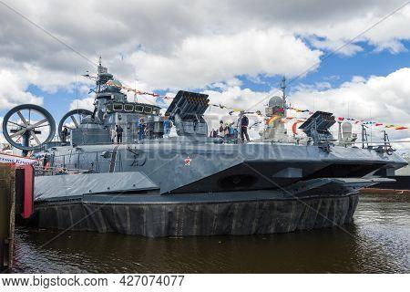 Saint Petersburg, Russia - July 02, 2017: Small Amphibious Assault Ship