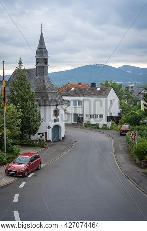 Quiet Street In Suburb Of Bonn  Königswinter, Germany
