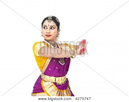 Female Bharathanatyam Dancer