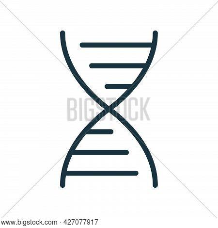 Deoxyribonucleic Acid Dnc Icon, Educational Institution Process School, Outline Flat Vector Illustra