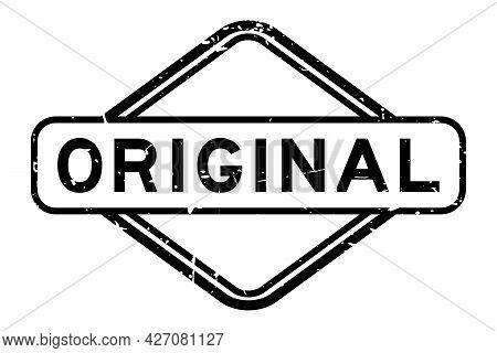 Grunge Black Original Word Rubber Square Seal Stamp On White Background