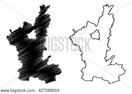 Ostallgau District (federal Republic Of Germany, Rural District Swabia, Free State Of Bavaria) Map V