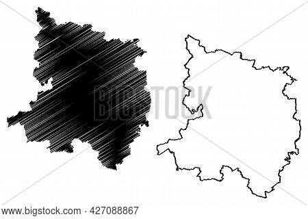 Ostprignitz-ruppin District (federal Republic Of Germany, Rural District, State Of Brandenburg) Map