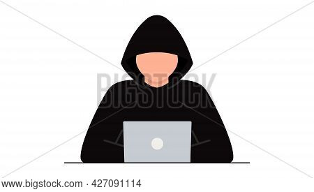 Hacker Attack. Fraud With User Data On Social Networks. Internet Phishing, Hacked Password. Cybercri
