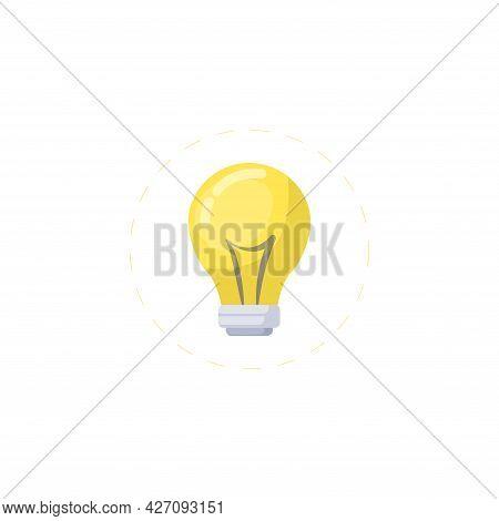 Bulb Clipart. Light Bulb Isolated Simple Flat Vector Clipart