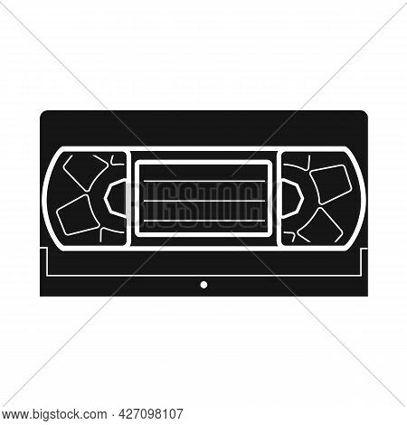 Isolated Object Of Videotape And Videocassette Sign. Graphic Of Videotape And Reel Stock Vector Illu