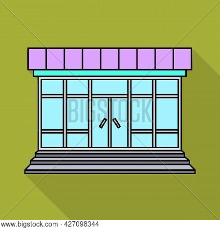 Isolated Object Of Store And Market Icon. Set Of Store And Mini Stock Symbol For Web.