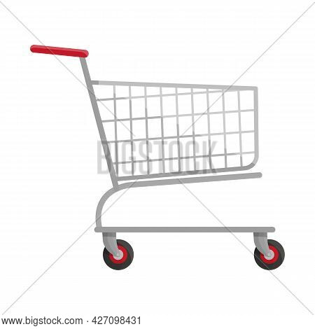 Vector Illustration Of Trolley And Basket Icon. Web Element Of Trolley And Buy Stock Symbol For Web.