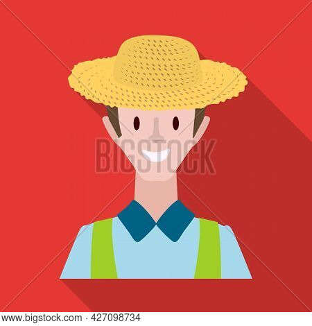 Vector Illustration Of Farmer And Man Logo. Collection Of Farmer And People Stock Symbol For Web.