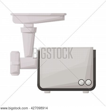 Isolated Object Of Mill And Meat Symbol. Graphic Of Mill And Electric Vector Icon For Stock.