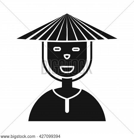 Vector Illustration Of Vietnamese And Portrait Sign. Set Of Vietnamese And Costume Vector Icon For S