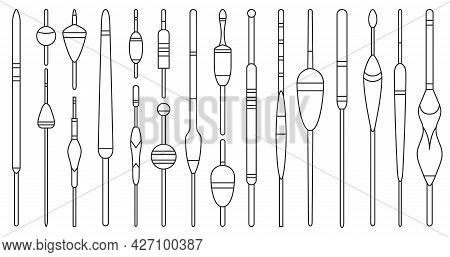 Floats Vector Outline Icon. Isolated Outline Set Icon Bobber For Fishing.vector Illustration Floats