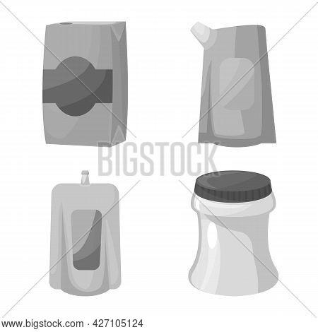 Vector Illustration Of Drink And Beverage Logo. Collection Of Drink And Liquid Vector Icon For Stock