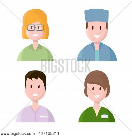 Vector Illustration Of Medical And Avatar Icon. Collection Of Medical And Hospital Vector Icon For S
