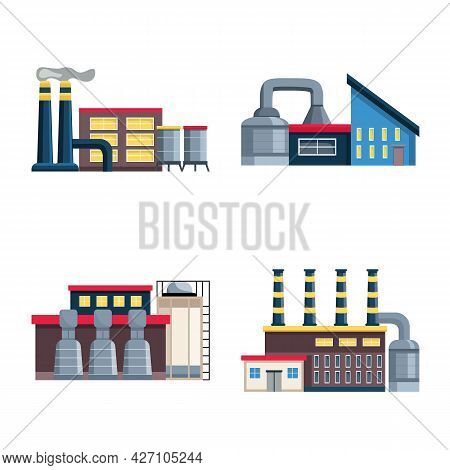 Isolated Object Of Industry And Plant Icon. Set Of Industry And Construction Stock Symbol For Web.